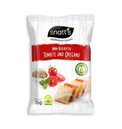 SNATT'S MINI BREAD SNACK TOMATO AND OREGANO 35gr